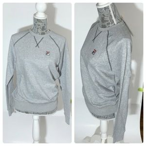 FILA Grey French Terry Crew Neck Sweatshirt Small